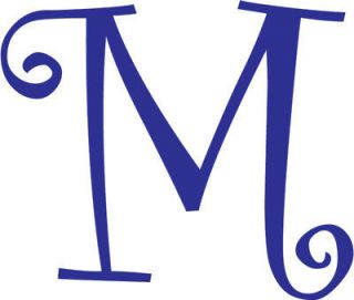 Letter M Initial Vinyl Car Decal Window Sticker