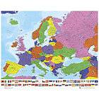 World Map with Country Flags Latest Edition Big Poster