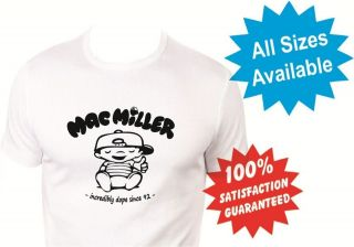 mac miller womans T Shirt New White Custom Print Tee