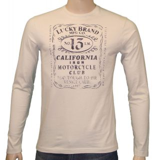 Lucky Brand Jeans Whiskey Label T Shirt White