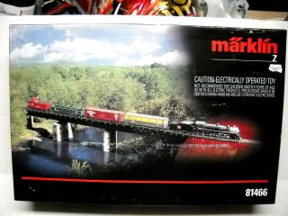 MARKLIN Z SCALE STEAM STARTER TRAIN SET BURLINGTON ROUTE 81466