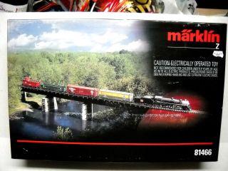 MARKLIN Z SCALE STEAM STARTER TRAIN SET BURLINGTON ROUTE 81466