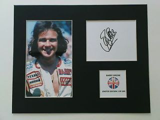 Limited Edition Barry Sheene Signed Mount Display MOTO GP SUPERBIKES 7