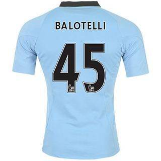 Mens Manchester City Umbro Home Jersey Shirt 2012 2013   Balotelli #45