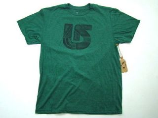 MENS T SHIRT GREEN VERTICAL MOUNTAIN DEW SLIM FIT LOGO TEE SIZE SMALL