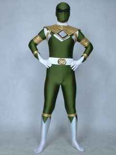 lycra spandex zentai halloween costumes ranger green power man