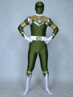 lycra spandex zentai halloween costumes ranger green power man