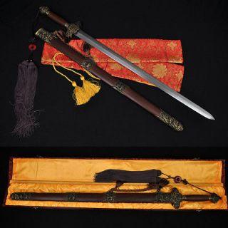 HIGH QUALITY HAND MADE CHINESE SWORD JIAN (剑) FOLDED STEEL BLADE