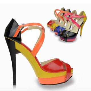 Mary Jane Women Shoes Platforms Stilettos High Heels Sandals Pumps