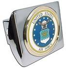 US Air Force Chrome Metal Hitch Cover (NEW) Airforce Military Trailer