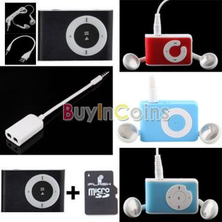 Fashoin Mini Clip USB  Music Media Player Support Micro SD TF Card