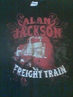 ALAN JACKSON MENS 2XL BLACK SHORT SLEEVE SHIRT FREIGHT TRAIN