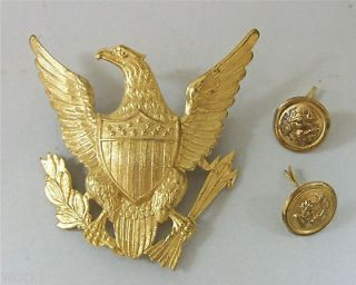 60s Marching Band hat medallion metal badge eagle College High School