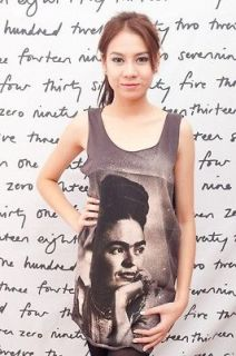 Frida Kahlo Mexican Painter Artist WOMEN T SHIRT DRESS Tank TOP Size S