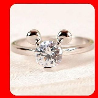 MINI & MICKEY MOUSE CZ WGP New Women Fashion Jewelry Ring RR111