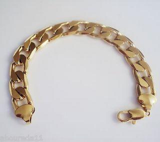 18k gold bracelet mens in Mens Jewelry