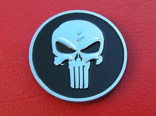 PUNISHER SKULL CAR EMBLEM Chrome Metal Badge *NEW & UNIQUE* Movie Hero