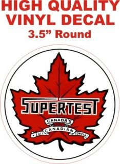 Style Supertest All Canadian Canada Gasoline Motor Oil Gas Pump Decal