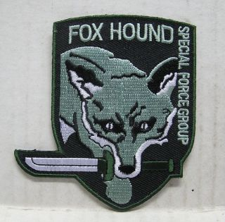 Metal Gear FOX HOUND Special Forces Green Logo 3.5 Embroidered Patch