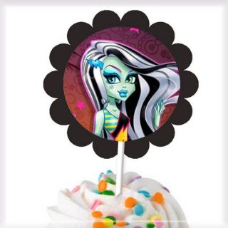 Monster High New Mix Cupcake Toppers