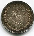 1966 MEXICO MEXICAN 1 ONE UN PESO SILVER COIN KM459 UNC