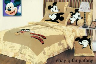 DISNEY MICKEY MOUSE TWIN 7PC COMFORTER IN A BAG ~Free Shipping