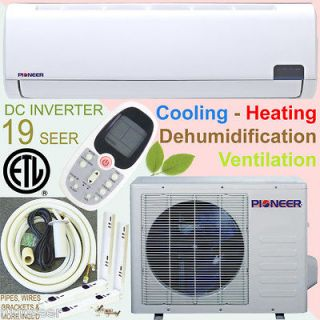 Ton PIONEER 19 SEER INVERTER Ductless Mini Split Air Cond. Heat Pump