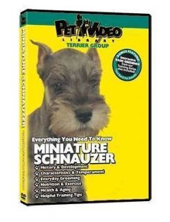 MINIATURE SCHNAUZER ~ Puppy ~ Dog Care & Training DVD