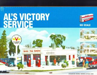 HO SCALE MODEL RAILROAD TRAINS BUILDING KIT ALS VICTORY SERVICE GAS