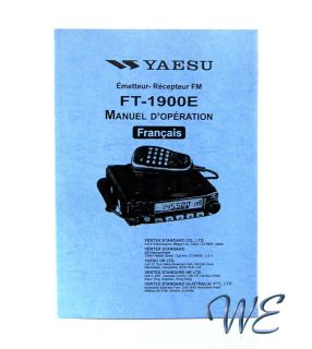NEW Yaesu FT 1900E Operating Manual notice demploi book in French