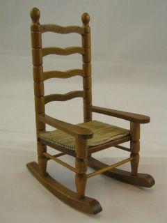 Rocking Chair M0357 miniature dollhouse furniture wooden 1pc rocker