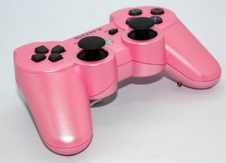 Wireless PS3 Modded Rapid Fire Controller Limited 8 mode pink Shell