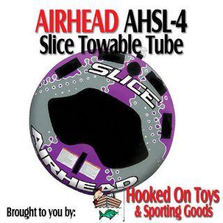 Airhead AHSL 4   Slice Inflatable Towable Tube 1 2 Riders   Kwik Tek