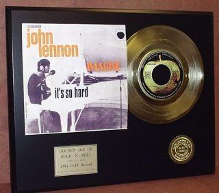 John Lennon IMAGINE 24k Gold Record Limited Edition R&R Gift
