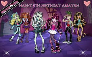 monster high cake in Holidays, Cards & Party Supply