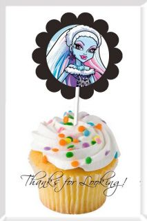 72 MONSTER HIGH Cupcake CAKE Pops PARTY Favor TOPPER Decorations RINGS