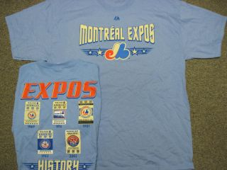 VINTAGE MONTREAL EXPOS AUTHENTIC SHIRT MAJESTIC NEW PICK SIZE