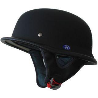 Motorcycle helmet German Motorcycle half DOT Helmet flat Black