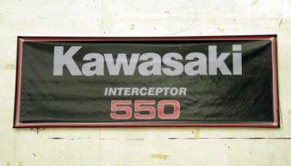 Vintage Kawasaki Interceptor 550 Snowmobile Banner