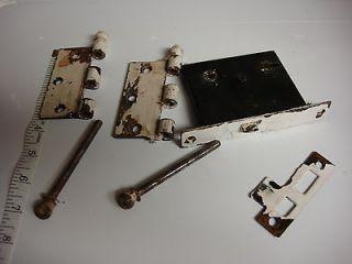 old Mortise lock door hardware brass or bronze hinge pin parts