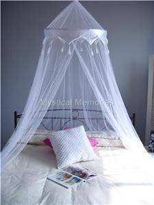 WHITE CROWN Mosquito Net Bed Canopy   QUEEN SIZE NEW