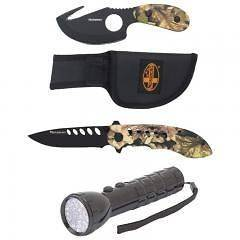 Mossberg 2 Knife/1 Flashlight Set w/Limited Lifetime Warranty