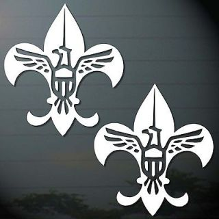 BOY SCOUT EAGLE FLEUR DE LIS STICKER CUT OUT COMPUTER CAR MOTOR BIKES
