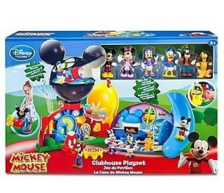 NEW   Mickey Mouse Clubhouse Deluxe Play Set With 6 Disney Figures