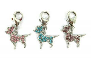 3pcs dog charms,pink/bl​ue/purple charms,pet jewelry,collar charms