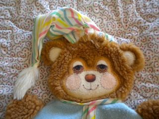 Fisher Price Teddy Beddy Bear Security Blanket Puppet Lovey #1404