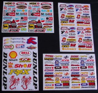 SHEETS MOTOCROSS Stickers XMAS BMX BIKE SCOOTER SCOOTER Energy MX