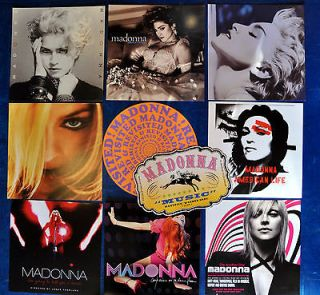 MADONNA Lot (10 ) promo album flats MDNA tour girl gone wild Turn Up