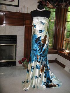 Night Moves 6218 Gorgeous Print Evening Gown various sizes NWT
