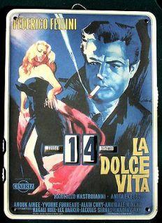 La Dolce Vita perpetual CALENDAR classic Italian film Federico